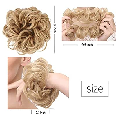Jinjin Hair Accessories Fashion Hair Band Hair Band Female Girl Elastic Hair Ring Wig Adjustable Size Washable and Reusable (E): Baby