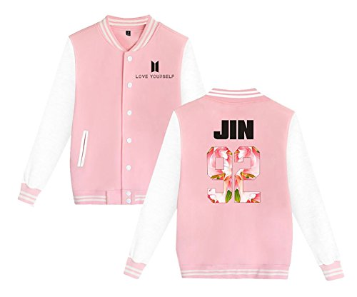 Sweat Love Bangtan Kpop Baseball Femme Gogofuture Manches de Unisexe BTS Longues Veste Pink6 Manteaux Blouson Shirt Yourself Boys nHqXHwg0Ov