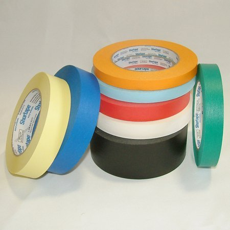 Shurtape CP-632 Colored Masking Tape: 1 in. x 60 yds. (Yellow)