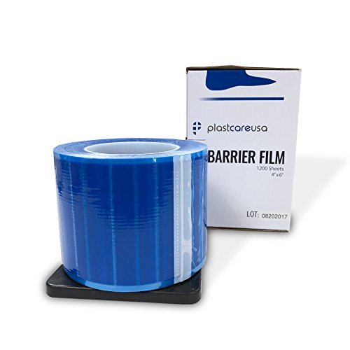 Barrier Film, Plastic Sheeting for Dental, Tattoo, Thick Plastic Film Sheets, Adhesive Lab Film Barrier Tape - 8 Boxes of 1200 Sheets 4