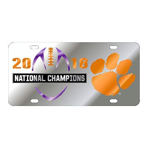 (Craftique Clemson Tigers 2018 National Champion Mirrored License)