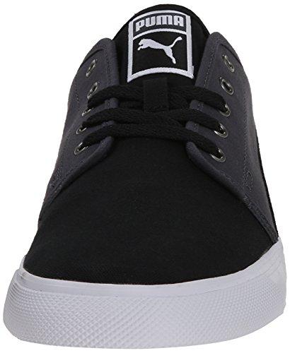 El Puma Alta lona lavada con cordones de la zapatilla de deporte de moda Black/Dark Shadow/White
