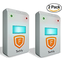 [UPGRADED] Ultrasonic Pest Repeller - BEST Pest Reject Control 2-Pack with DOUBLE IMPACT - Plug-In Electronic Home Repellent Anti Mice, Ant, Roach, Mosquito, Outdoor/Indoor (2Pack, White)