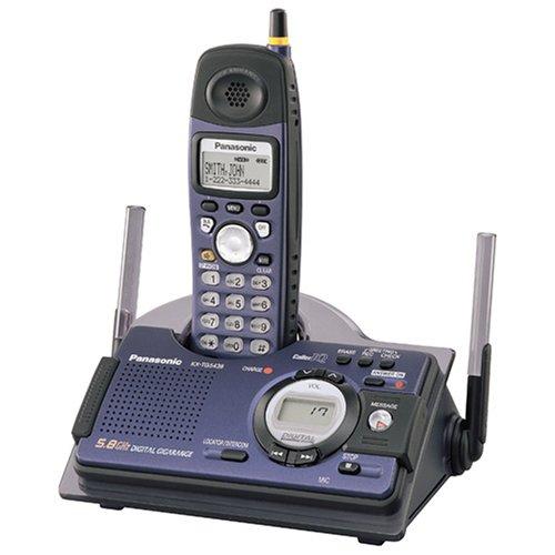 Panasonic KX-TG5438F 5.8 GHz FHSS GigaRange  Shock and Splash Resistant Digital Cordless Answering System