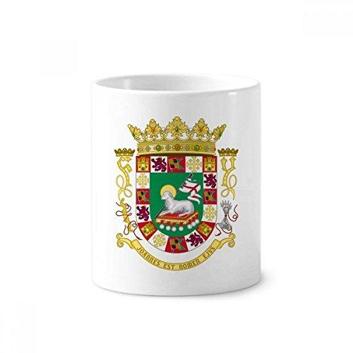 - Puerto Rico National Emblem Toothbrush Pen Holder Mug White Ceramic Cup 12oz