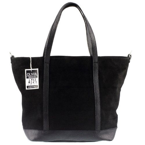 33 II velours Sac 43 Noir PARME Sac Noir CM Olivia shopping Cuir X étudiante Cuir Bw0Xqvf