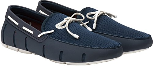 SWIMS Men's Braided Lace Loafer Navy/White 9.5 M US by SWIMS