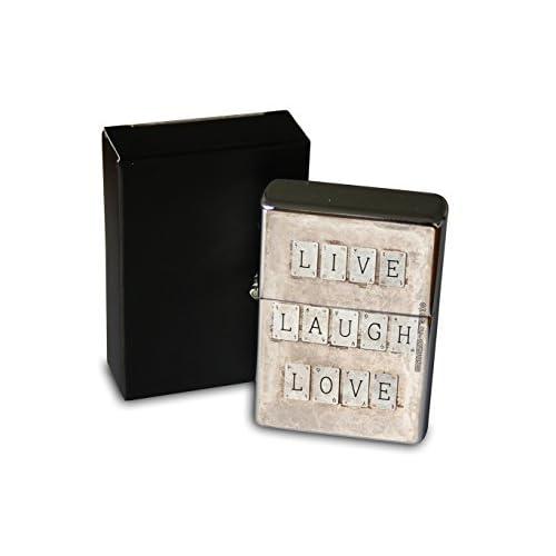 Briquet Chromé Essence Paroles Live Laugh Love Rarement Imprimé