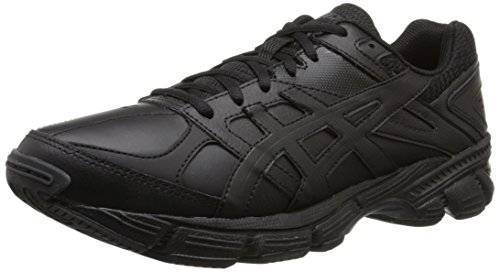 Tr Leather (ASICS Men's Gel-190 TR Training Shoe, Black/Black/Silver, 9 M)
