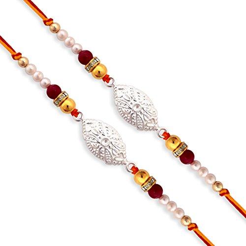 (0088) Milan Jewellers BIS HALLMARKED 99.5% Fine Silver Bracelet Rakhi (Pack of 2) (B01IM2K4OY) Amazon Price History, Amazon Price Tracker