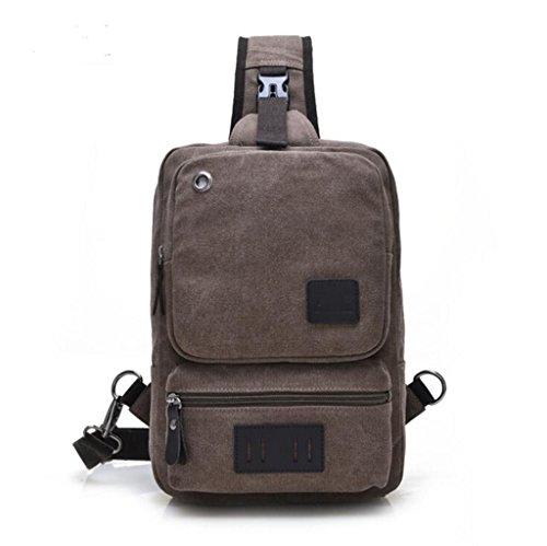Sucastle Freizeit Taschen Mode-Tasche Retro-Tasche Brusttasche Umhängetasche Tragetasche Sucastle Farbe:braun Größe:32x22x9cm