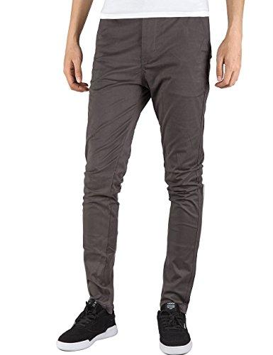 Italy Morn Men Chino Pants Khaki Slim Fit Stretch Cotton Twill Dress (Mens Chino Pants)