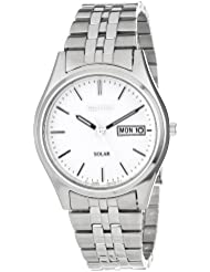 Seiko Mens SNE031 Stainless Steel Solar-Powered Watch