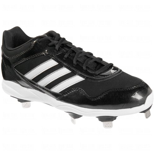 Adidas Mens Excelsior Pro Metallo Tacchetti Bassi Baseball Nero / Bianco