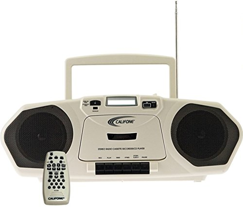 Califone 2385AV-03 Model 2385-03 MP3-Capable Music Maker Multimedia Player/Recorder, 6 Watts RMS powerful enough for up to 75 people, Digital controls on top w/separate bass/treble controls ()