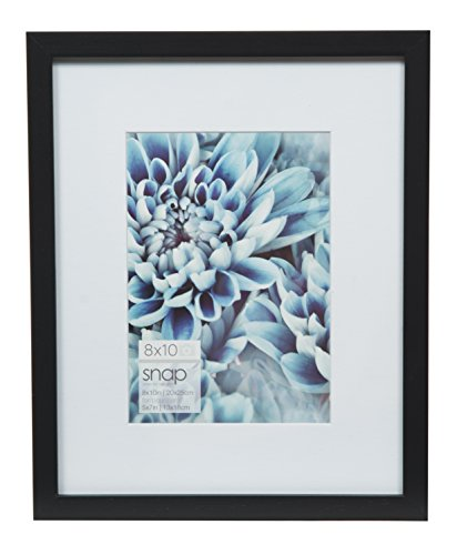 etop and Wall Picture Frame with 5x7 Single White Mat Opening ()