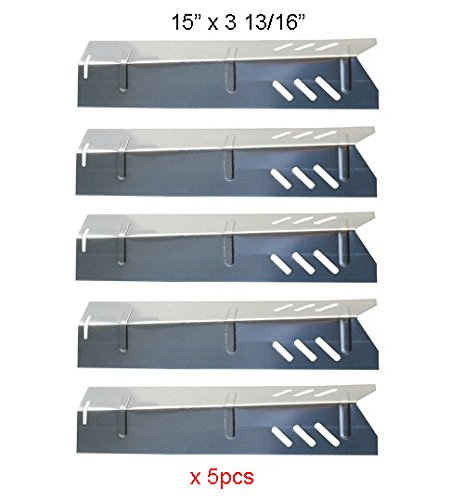 SH1591 (5-pack) Stainless Steel Heat Plate, Heat Shield for Select Gas Grill Models By Uniflame, Lowes Models and Others