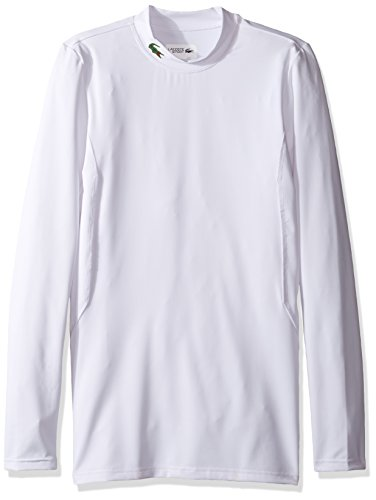 - Lacoste Men's Long Sleeve Jersey Tech with Side Piping Detail T-Shirt, TH2112, White, XX-Large