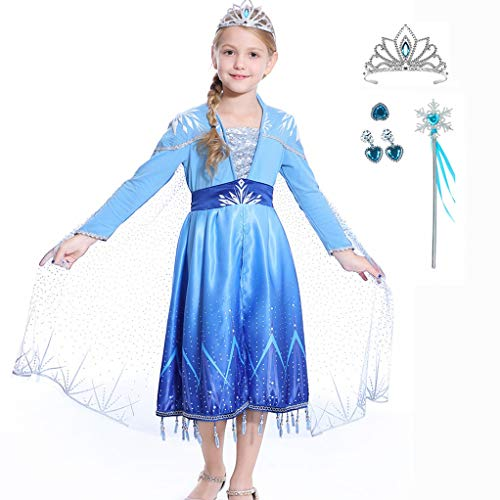 New Costumes For Halloween (Luzlen New Princess Costumes for Girls Halloween Party Cosplay Dress Up 3-12)