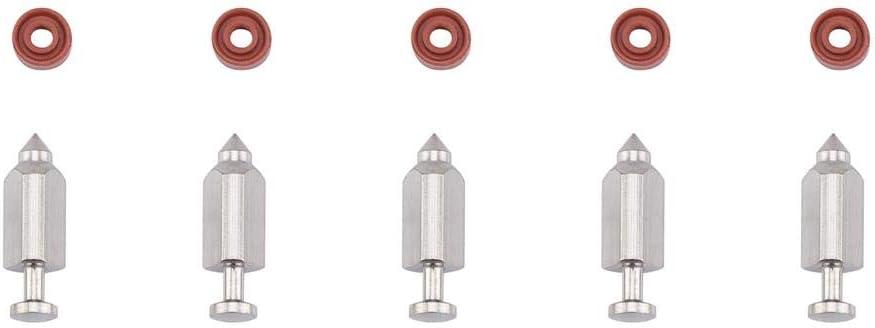 Duokon 5 st/ücke Vergaser Carb Nadel Sitzdichtung Reparatur Ersatz Kit f/ür Briggs /& Stratton 398188
