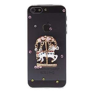 Diamond Look 3D Merry-go-round Design Transparent PC Hard Case for iPhone 5/5S