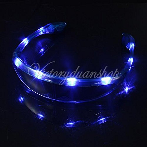 Spaceman UFO Light Up LED Glasses / Shades - Blue
