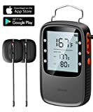 Govee Bluetooth Thermometer, Digital Meat Thermometer with Dual IPX7 Waterproof Probes, Remote Wireless BBQ Thermometer with Timer for Grilling Smoker Oven(164ft Working Range)