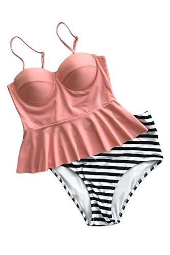 Cupshe Fashion Falbala Swimsuit Swimwear