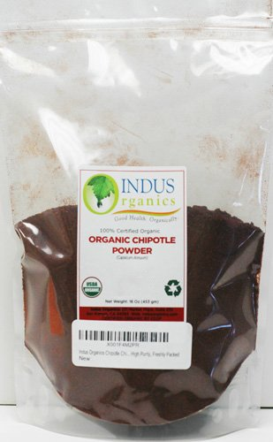 Pepper Plant Chipotle - Indus Organics Chipotle Chili Pepper Powder, 1 Lb Bag, Premium Grade, High Purity, Freshly Packed