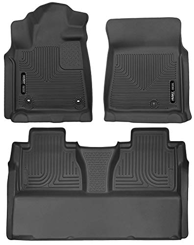 - Husky Liners 53711-53841 - X-Act Contour - First and Second Rows (Full Coverage under Second Row Seat) All Weather Custom Fit Floor Liners for 2014-2018 Toyota Tundra CrewMax