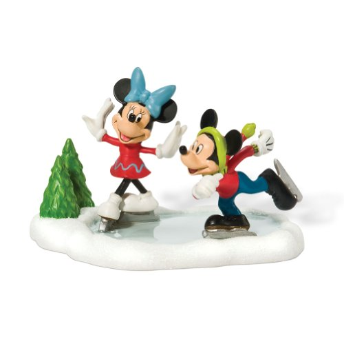 - Department 56 Disney Village Mickey and Minnie Ice Skating Accessory Figurine