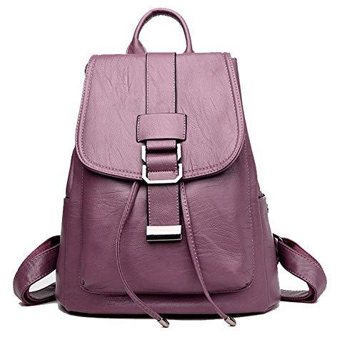 bandoulière Cuir des Boucle Rouge Mode à Sacs PU AllhqFashion Femme Vineux FBUFBE181670 Violet Sacs YwqBXzyxE