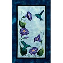 """Glorious Hummingbirds - NEW Form of Foundation Paper Piecing (Picture Piecing) Pattern - 17"""" x 26"""" Quilt Block"""