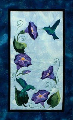 Glorious Hummingbirds - NEW Form of Foundation Paper Piecing (Picture Piecing) Pattern - 17