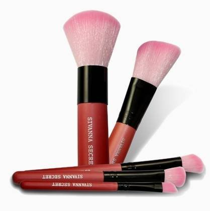 1 Set X Sivanna Secret Brush Musts Travel Brush Set 5 Pcs - Pink