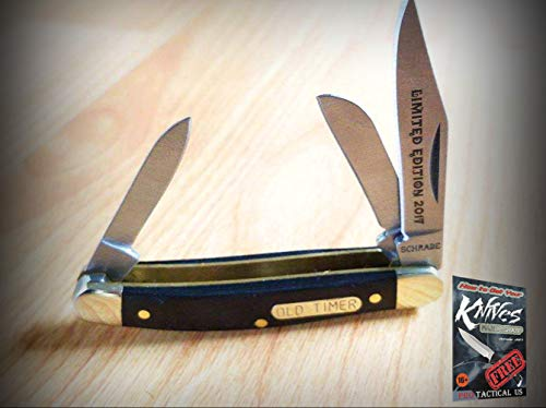 (New Old Timer Junior 2017 Wood Folding Pocket Pro Tactical Elite Knife Blade Ltd Ed OT for Home Camping Hunting Rescue + free Ebook by ProTactical
