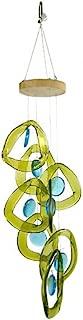 "product image for Modern Artisans American Handmade Recycled Glass Bottle Windchime : Aqua Drops, 24"""