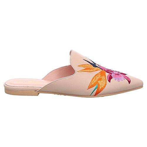 Femme Rose Ballerinas Pour Mules Pretty 46994 xTIX0P