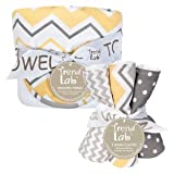 Best Trend Lab Towel Sets - Buttercup Zigzag Bouquet Hooded Towel and Wash Cloth Review