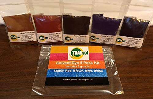 Wood Dye - Powdered Solvent 5 Color Kit - Wood Stain Kit (25 Grams)