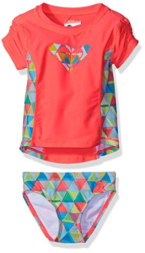 roxy-baby-girls-geo-short-sleeve-rashguard-set-neon-coral-6-12-months