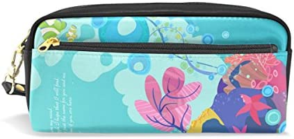 Ahomy - Estuche para lápices de estrellas de coral y de mar tropical con doble cremallera, bolsa de almacenamiento para cosméticos y cosméticos para niñas, niños y mujeres: Amazon.es: Oficina y papelería