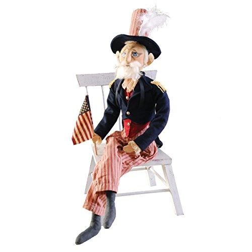 """""""Uncle Sam"""" Figure, Soft Sculpture Doll"""