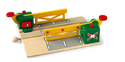 BRIO World - 33750 Magnetic Action Crossing | Toy Train Accessory for Kids Ages 3 and Up - Model Train Crossing