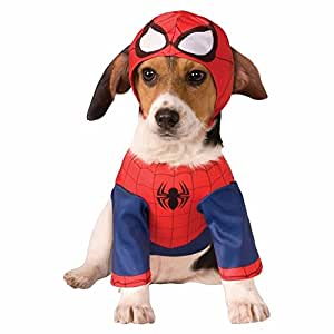 SPIDERMAN - Superhero Dog Costumes Funny Pet Halloween Fancy Dress Pet Supplies (LARGE)