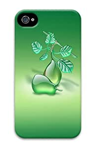 Aqua Pears Green PC Case for iphone 4S/4 by runtopwell