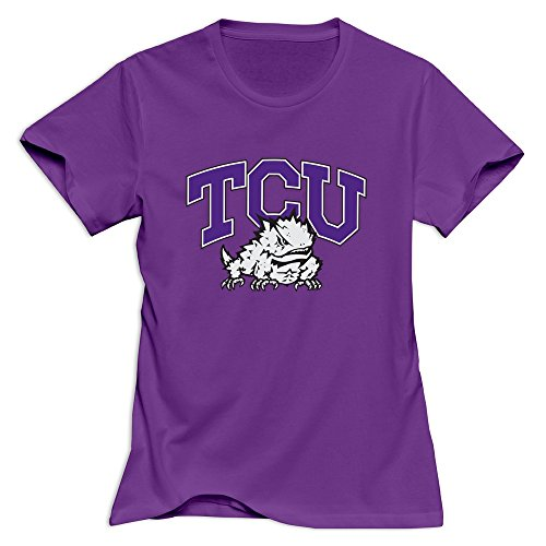TCU Horned Frogs Woman T-Shirt Size Large Purple