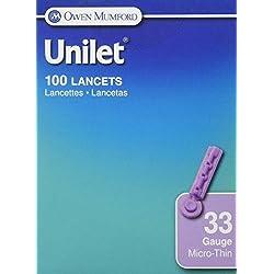 Owen Mumford Sharepened Needle Unilet Lancets, 100 Count