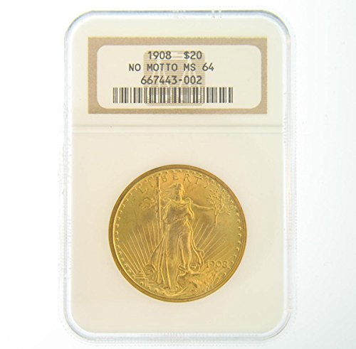 (1908 Pre-1933 US Gold Coins $20 MS-64 NGC )