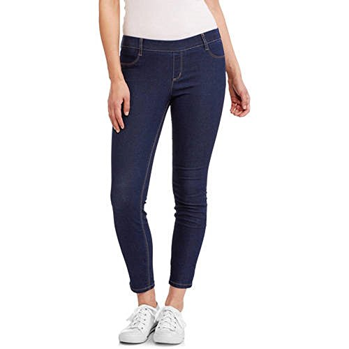 L.E.I. Juniors' Luxe Pull-On Ankle Jegging Pants (3, Dark Wash)